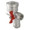 Кран шаровой со встроенным фильтром и редуктором давления (КФРД), правый